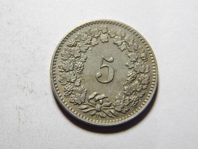 Švýcarsko 5 Rappen 1904 B UNC č35618