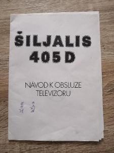 návod k obsluze - ŠILJALIS 405 D - ŠILELIS - TELEVIZOR