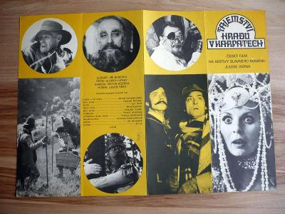 Tajemství hradu v Karpatech (filmový plakát, film ČSSR