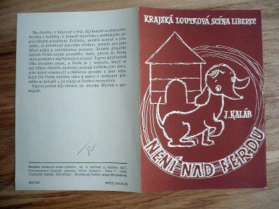 Není nad Ferdu (plakát, loutky, ČSSR 1955, Krajská lout