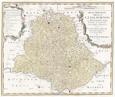 Homann dědicové : Čáslavský kraj, mědiryt, 1773