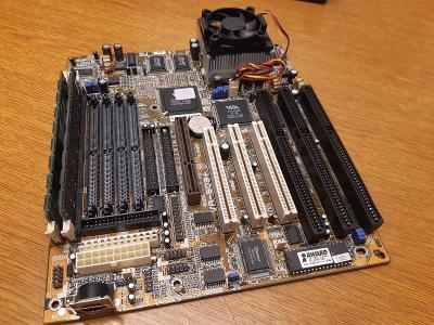 RETRO HW - MB FIC VA503 PLUS 1MB L2!!! + AMD K6-2/533AFX + 256MB