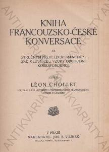 Kniha francouzsko-české konversace Léon Chollet