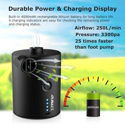 RUNACC Dobíjecí vzduchová pumpa Elektrická