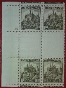 ČSR1 - 1936 - č.306Ms - desková čísla