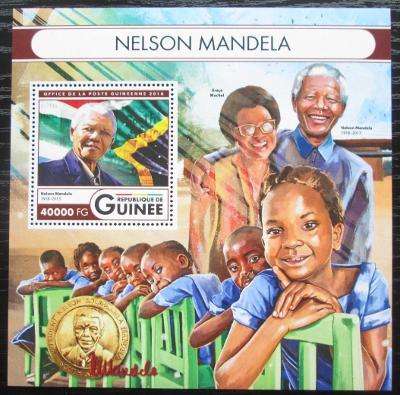 Guinea 2016 Nelson Mandela Mi# Block 2698 Kat 16€ 2555