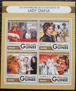 Guinea 2016 Princezna Diana Mi# 12016-19 Kat 16€ 2555
