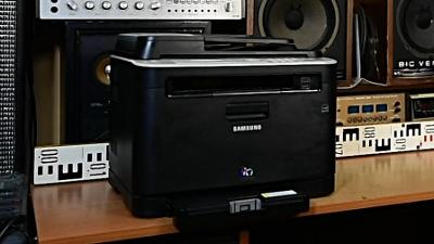 SAMSUNG CLX-3185FN laserová barevná tiskárna k údržbě, scanner funkční