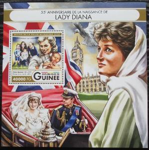 Guinea 2016 Princezna Diana Mi# Block 2699 Kat 16€ 2555