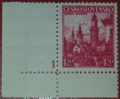 ČSR1 - 1936 - č.305 - desková čísla