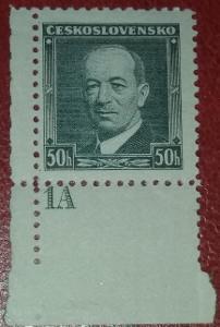 ČSR1 - 1936 - č.301 - desková čísla