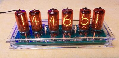 Digitronové hodiny- 6x-z566m