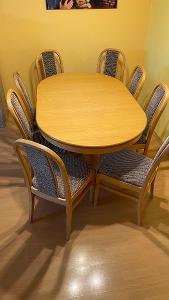 Jídelní stůl z masivu - JITONA + židle