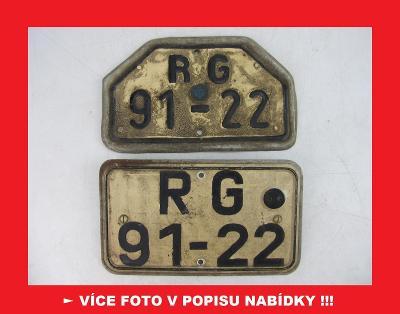 SPZ poznávací značka DDR NDR Německo - MOTOCYKL MZ Simson Jawa ČZ