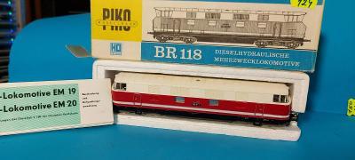 Piko - Dieselová lokomotiva BR 118 181 DR - H0