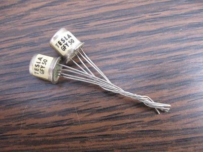 Tranzistor TESLA GFY50 - 2 kusy, nepoužité Tranzistory GE  - GFY 50