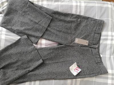 Jake´S-Dámské tvídové kalhoty v šedé barvě,22% vlna, 14% hedvábí,M/40.