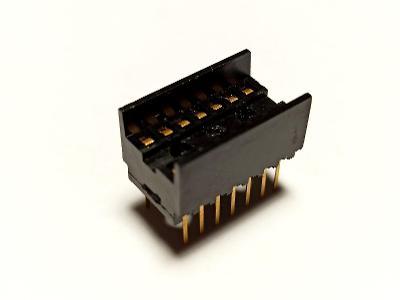 Patice pro integrované obvody DIL 14 6AF 497 70 - TESLA, bakelit