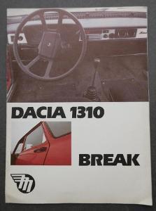 DACIA 1310 BREAK - dobový PROSPEKT - MOTOTECHNA !!! 1989, 4 listy