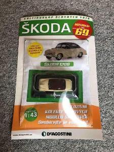 Autíčko Škoda 1200 Deagostini. Ne ites. Kdn. Kaden. Abrex. Igra.