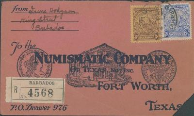 20B205 Barbados / Max Wehl -NUMISNATIC Company Fort Wort TEXAS