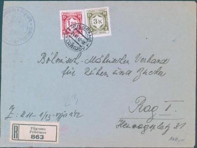 12B53 Služební dopis Pelhřimov   Praha
