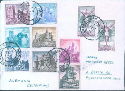 17B197 Dopis Španělsko do Berlína, dekorativní