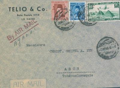 19B1 Dopis z Egypta do Aše - čisté