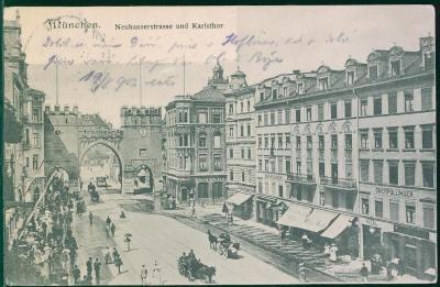 27A953 München / Mnichov - Neuhauserstrasse, Karlstor - Hořovice