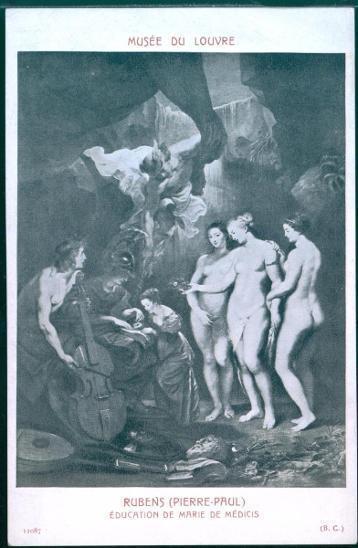 29A89  Obraz- RUBENS  - erotika, neprošlá pohlednice