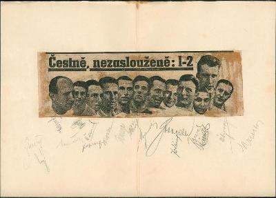 2A498 MS fotbal 1934 - Plánička, Puč, Košťálek, Čtyřoký mimořádné RR!
