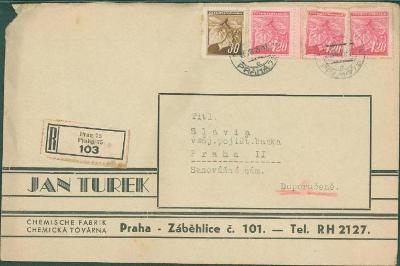 10B3342 Firemní obálka Jan Turek Praha, provizorium
