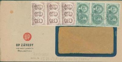 10B3360 Obálka ÚP Rousínov - měnová reforma 1953