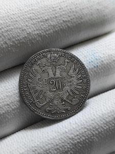 20 krejcar 1869 bz / František Josef I