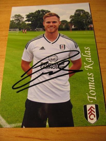 Tomáš Kalas - Fulham - orig. autogram  - Ostatní