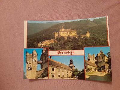 Pohlednice Pernštejn,neprošlé poštou