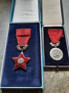 Vojenské vyznamenání medaile stříbro punc