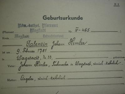 1943 DR REICH ŘÍŠE WAGSTADT BÍLOVEC STUDÉNKA OSTRAVA - HIMLER !!! R