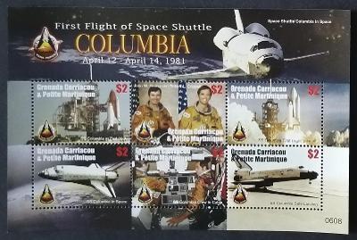 Grenadiny & Grenada 2006 Mi.4270-5 10€ Průzkum vesmíru, mise Columbia
