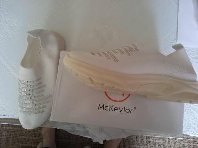Boty dámské bílé pružné vel. 39 nové
