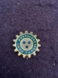 Odznak TJ BRNO KRÁLOVOPOLSKÁ, zelená varianta