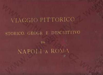 Viaggio pittorico storico  Napoli a Roma 55 x lito