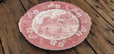 Starý porcelánový talíř - Royal Tudor Ware - ENGLAND
