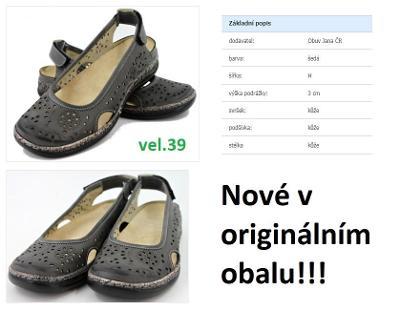 Dámské kožené boty bez paty Obuv Jana vel.39 (Nové!!!) od 1Kč