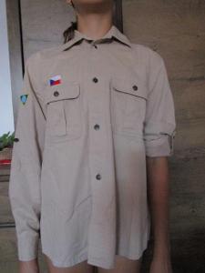 Skautská košile, vel. 140,