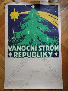 Vánoční strom republiky plakát větší A1