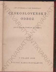 Československý odboj Lev Sychrava J. Werstadt 1923