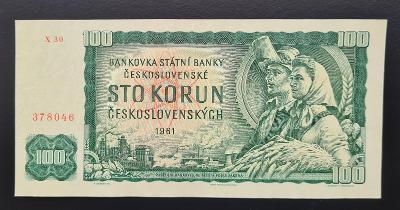 100 Kčs 1961, série X 30, stav 1-