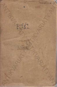 Klíč k určování našich rostlin Fr. Polívka 1907