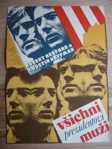 Všichni prezidentovi muži (filmový plakát, film USA 197